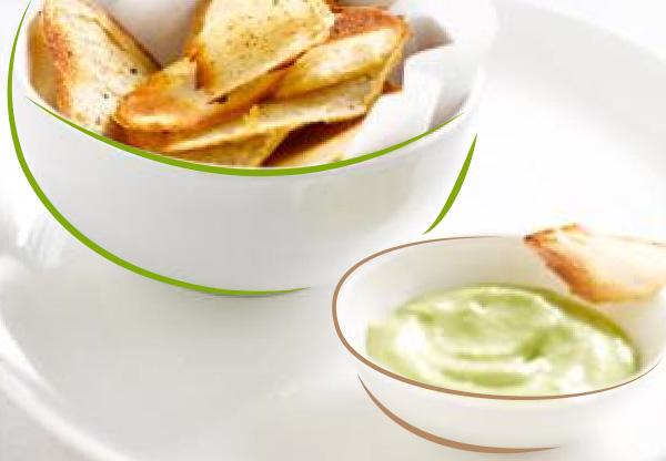 Chips de pommes de terre aux anchois