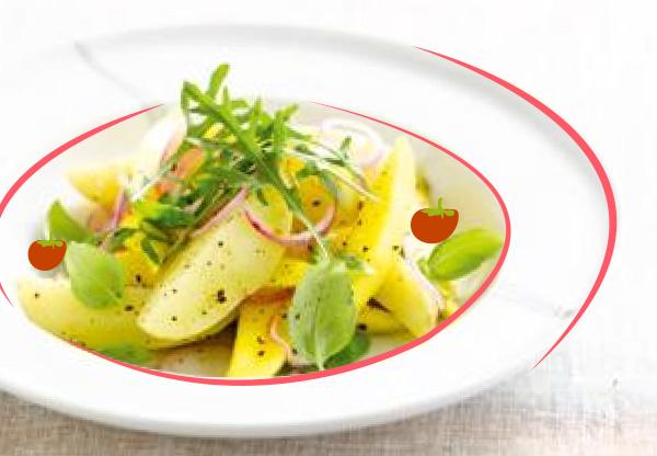Salade de pommes de terre à la mangue