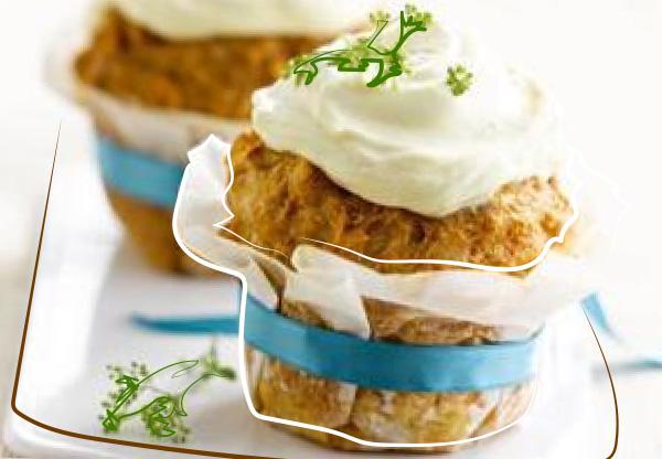Cupcake de pommes de terre et thon